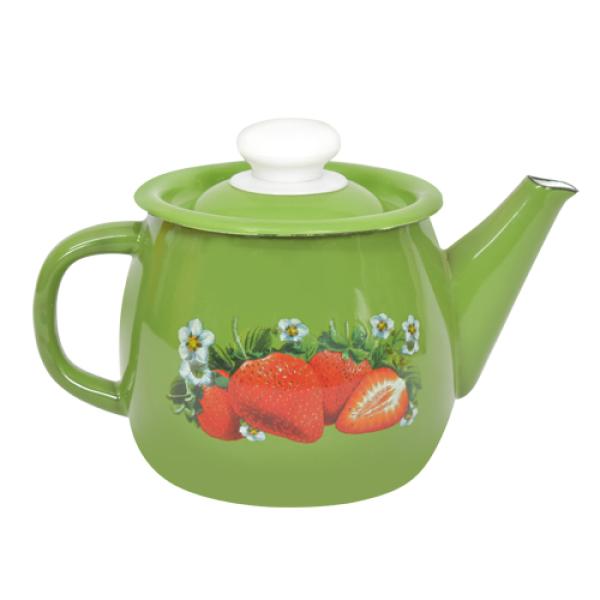 """Чайник 1,0л """"Зеленая клубника"""""""