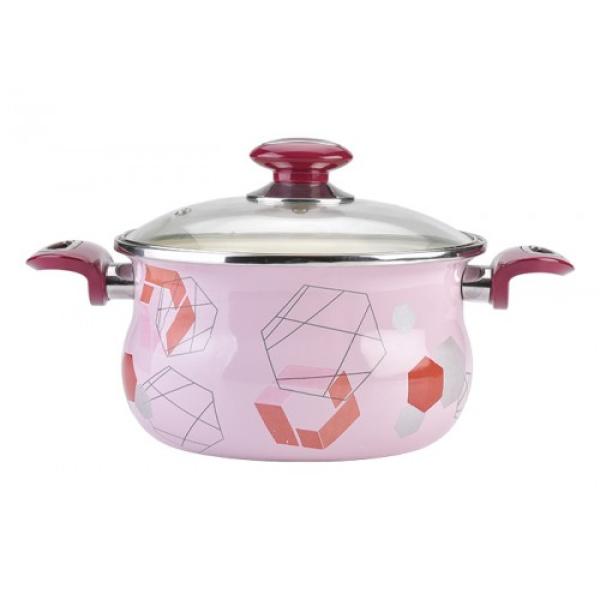 Кастрюля 2,5л LiO LiGrafic розовая
