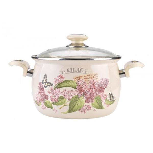 Каструля 5л Гілка бузку/Lilac